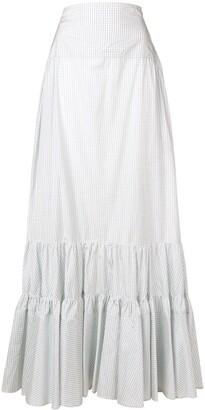 Calvin Klein Tiered Check Skirt