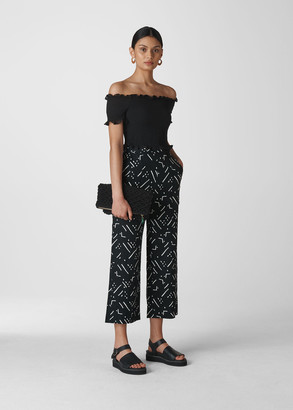 Kuba Print Linen Trouser