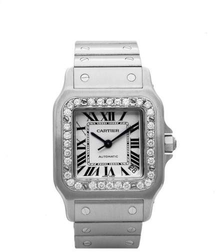Cartier Santos Galbee Xl W20098D6 1.20ct Diamond Bezel Automatic 32mm Mens Watch
