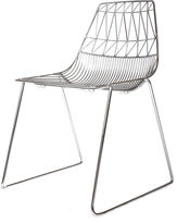 Bend Goods Lucy Stacking Chair, Silver