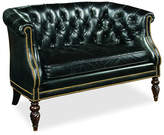 Century Furniture Hines Tufted Leather Settee