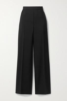 Acne Studios Wool And Mohair-blend Straight-leg Pants - Black