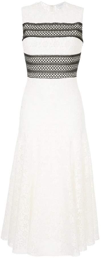 Giambattista Valli contrast panel lace dress