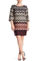 Taylor Printed Ponte Sheath Dress (Plus Size)