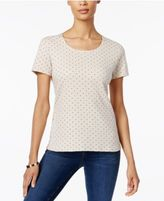 Karen Scott Dot-Print T-Shirt, Only at Macy's