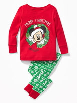 Old Navy Disney© Mickey Mouse Holiday Sleep Set for Toddler & Baby
