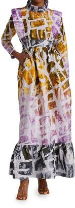 Busayo Pemi Printed Cotton Maxi Dress