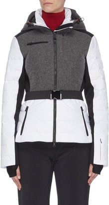 Erin Snow 'Kat' panelled performance puffer ski jacket