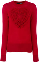 Love Moschino ruffle heart jumper
