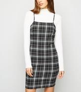 New Look Check Strappy Bodycon Dress