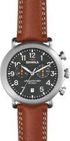 Shinola 41mm Runwell Chronograph Watch, Tan/Gray