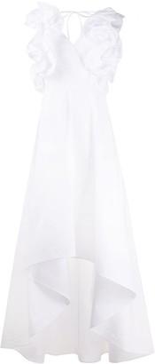 Sara Roka Ruffle Sleeve Dress