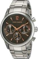 Vince Camuto Men's VC/1085DGSV The Chairman Multi-Function Dial -Tone Bracelet Watch