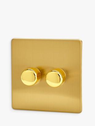 Varilight 2 Gang V-Pro LED Rotary Dimmer Switch