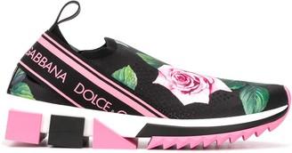 Dolce & Gabbana Tropical Rose print Sorrento sneakers