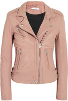 IRO Han Leather Biker Jacket - Pink