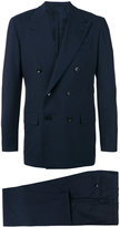 Kiton double-breasted two-piece suit - men - Virgin Wool/Cupro - 50