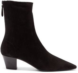 Aquazzura Saint Honore Suede Ankle Boots - Black