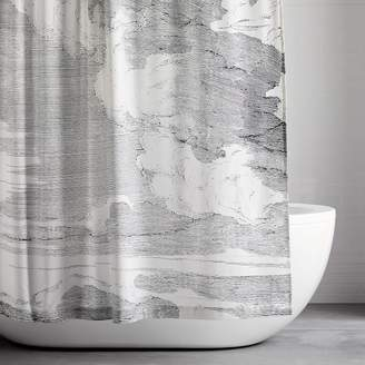 west elm Organic Cloud Shower Curtain