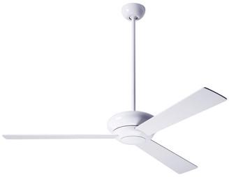 """Modern Fan Altus Fan, Gloss White, 52"""" White Blades"""
