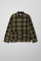 Weekday Genny Checked Overshirt - Green