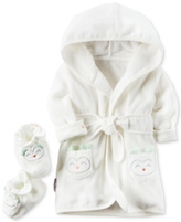 Carter's 2-Pc. Cotton Hooded Owl Robe & Booties Set, Baby Boys & Girls (0-24 months)