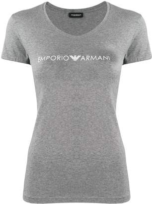 Emporio Armani fitted logo T-shirt