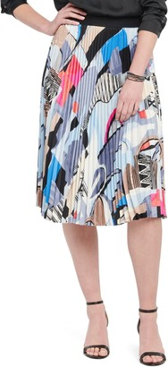 Nic+Zoe Pottery Print Pleated Skirt