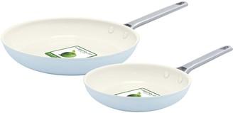 "Green Pan Padova 8"" & 10"" Ceramic Nonstick Fry Pan Set"