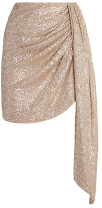 Jonathan Simkhai Sequin-Embellished Draped Skirt