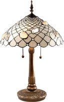 Dale Tiffany Ivory Shell Table Lamp