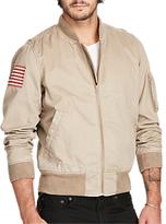 Denim & Supply Ralph Lauren Cotton Chino Bomber Jacket, Old Tan