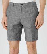 Reiss Reiss Buckingham S - Check Shorts In Grey