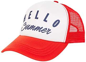 Billabong Women's Baseball Caps FUE_FUEGO - Fuego & White 'Hello Summer' Across Waves Trucker Hat