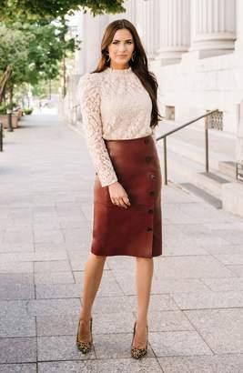 Rachel Parcell Leather Pencil Skirt