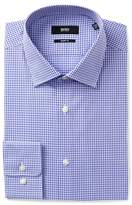 BOSS Marley Gingham Trim Fit Dress Shirt