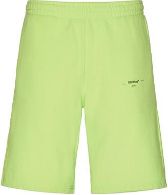 Off-White Logo Cotton Jersey Shorts