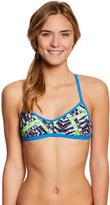 Speedo Turnz Clash Time Fixed Back Bikini Swimsuit Top 8146107