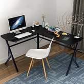 Soges L-Shaped Desk Computer Desk Multifunctional Computer Table Workstation, S1T-BCA-N