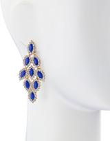 Fragments for Neiman Marcus Rhinestone-Edge Chandelier Earrings, Blue