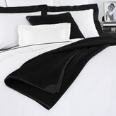 Leather Trim Cashmere Throw
