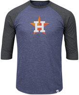 Majestic Men's Houston Astros Grueling Raglan T-Shirt