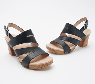 Dansko Leather Cut-Out Heeled Sandals - Ashlee