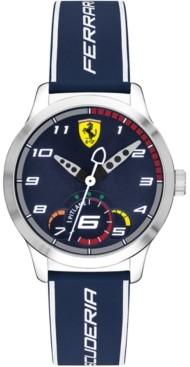 Ferrari Kid's Pitlane Blue Silicone Strap Watch 34mm