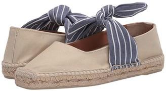 Castaner Pura Flat Espadrille (Azul) Women's Sandals