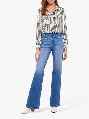 Mint Velvet Montana Indigo Flared Jeans, Dark Blue