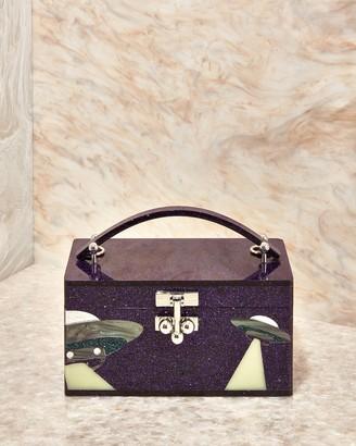 Edie Parker UFO Mini Acrylic Trunk Bag