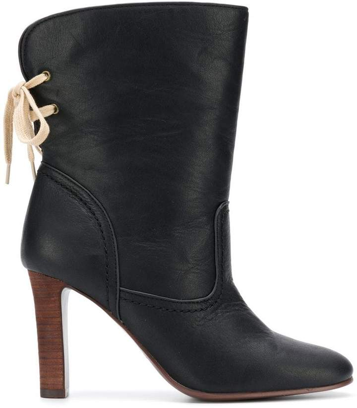 See by Chloe lace back ankle boots
