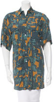 Alaia Abstract Print Button-Up Tunic