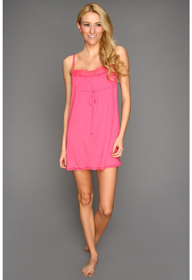 Hanky Panky Logo To Go Chemise (Popsicle Pink) - Apparel